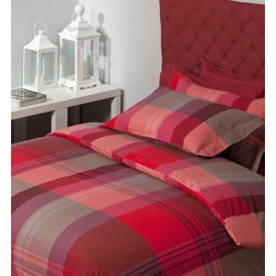 Set Duvet Cover Klack PORTO SCOZZESE RED