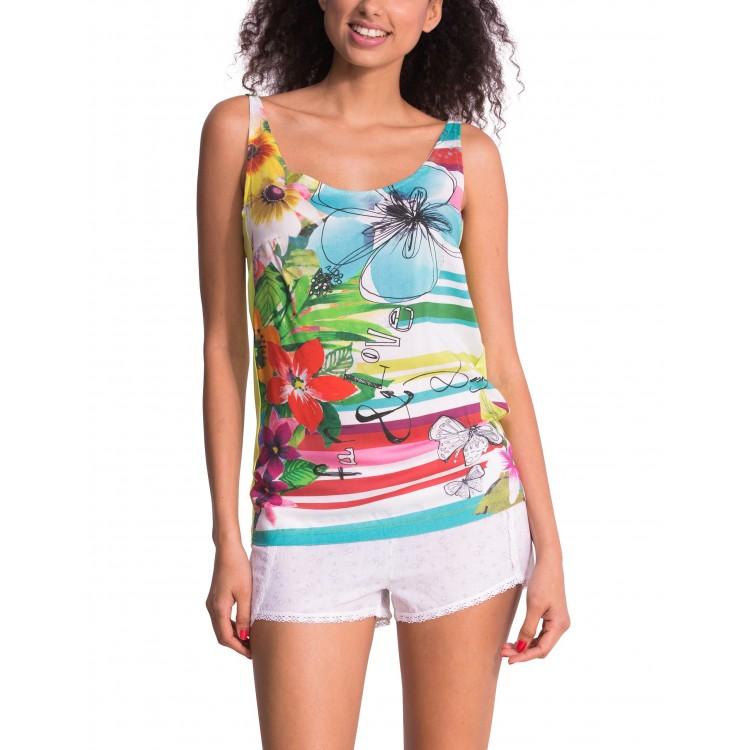 Sleep Shirt Pajamas Desigual Straps Jungle