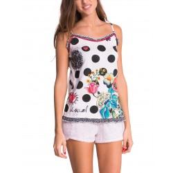 Sleep Shirt Pajamas Desigual Straps Polka Dots
