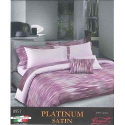 Duvet Set Cogal Platinum Satin 8957