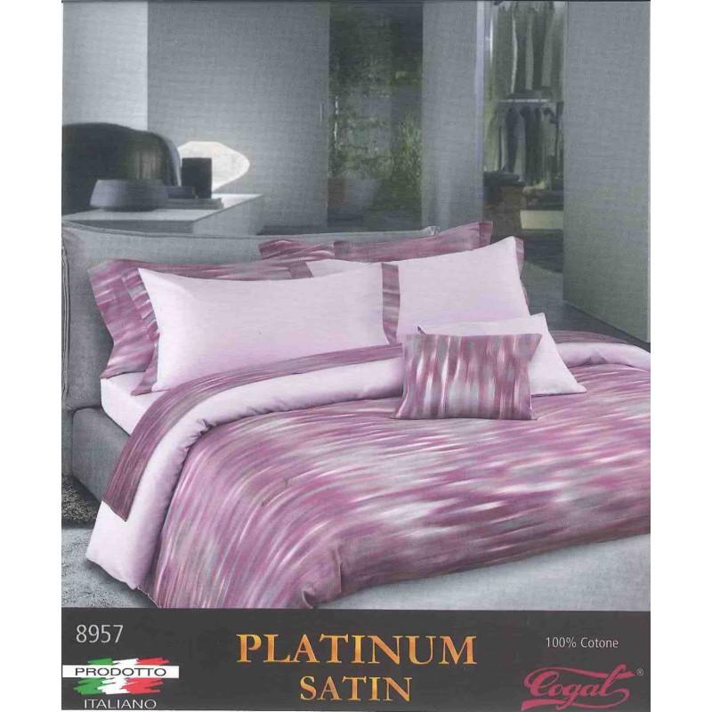 Cogal Copripiumino.Duvet Set Cogal Platinum Satin 8957