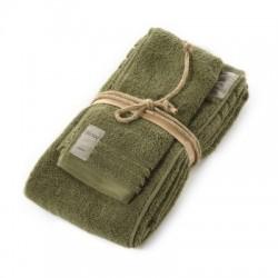 Coppia asciugamani Fazzini COCCOLA (1+1) ospite e asciugamano CACTUS 114