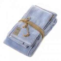Coppia asciugamani Fazzini COCCOLA (1+1) ospite e asciugamano AZZURRO 116