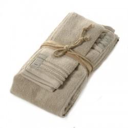 Coppia asciugamani Fazzini COCCOLA (1+1) ospite e asciugamano CORDA 130
