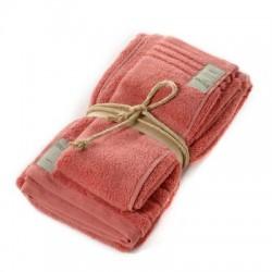 Coppia asciugamani Fazzini COCCOLA (1+1) ospite e asciugamano CORALLO 152