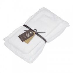 Coppia asciugamani Fazzini Apollo (1+1) ospite e asciugamano BIANCO A