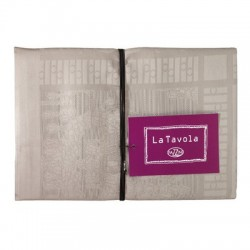 Table cloth Fazzini AUBERGINE WHITE A