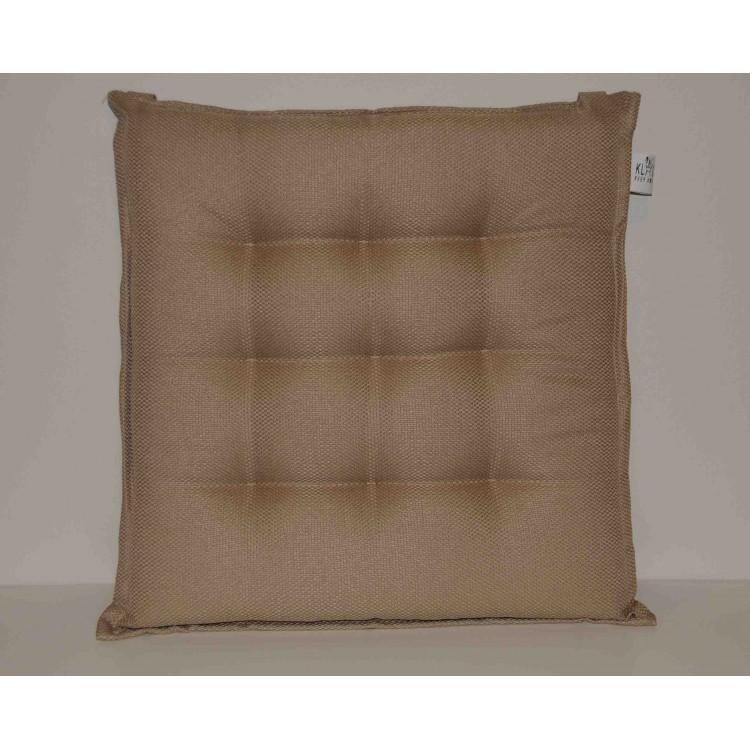 Coppia cuscini per sedie 9 punti Klack GEMMA Ecrù