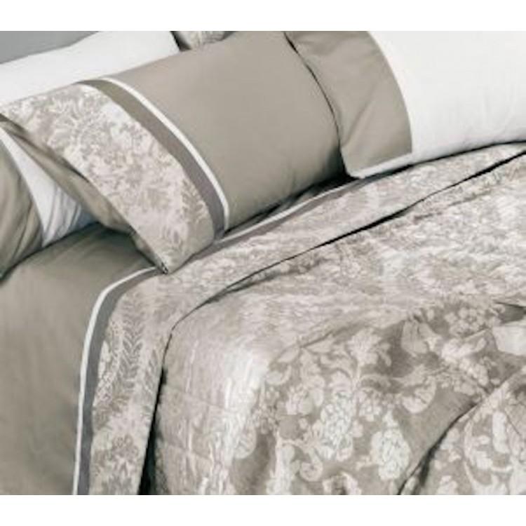 Lenzuola Matrimoniali Color Tortora.Set Bedclothes Fazzini Adelaide