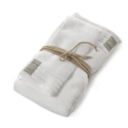 Coppia asciugamani Fazzini COCCOLA (1+1) ospite e asciugamano BIANCO A
